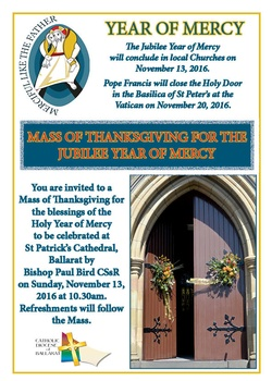 Thanksgiving Mass Year of Mercy Flyer